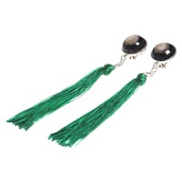 Charlene Court Buffalo Horn And Mother Of Pearl Tassel Earrings Silver