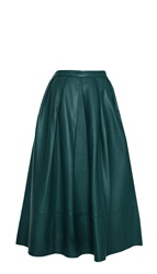 Tibi Leather Full Skirt