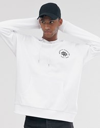 Brooklyn Supply Co. Co Oversized Hoodie With Logo In White