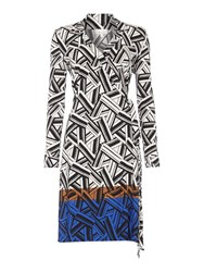Linea Border Print Wrap Dress Multi Coloured Multi Coloured