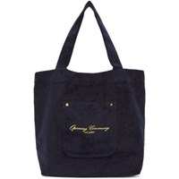 Opening Ceremony Ssense Exclusive Navy Corduroy Big Pocket Tote