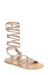 Charles By Charles David Women's Steeler Ankle Wrap Sandal Nude Leather