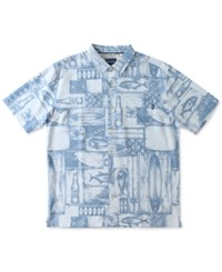 O'neill Jack Men's Short Sleeve Print Shirt Light Blue
