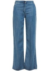 American Vintage Woman High Rise Straight Leg Jeans Mid Denim