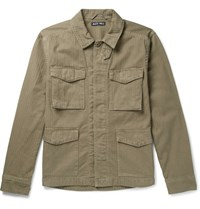 Alex Mill Herringbone Cotton Field Jacket Green