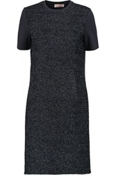 Tory Burch Tinsel Paneled Jersey Mini Dress Midnight Blue