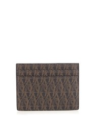 Saint Laurent Monogram Print Cardholder Brown Multi