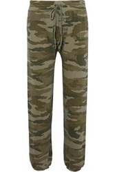 Current Elliott Printed French Cotton Terry Track Pants Army Green