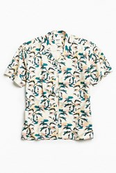 Katin Palm Tree Short Sleeve Button Down Shirt Black Multi