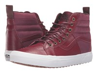 Vans Sk8 Hi 46 Mte Pebble Leather Port Royale Skate Shoes Red