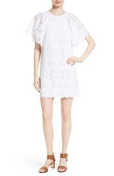 Kate Spade Women's New York Eyelet Cotton Shift Dress
