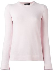 Salvatore Ferragamo Crew Neck Jumper Pink And Purple