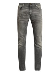Saint Laurent Faded Skinny Jeans Grey