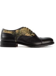 Pollini Distressed Print Oxford Shoes Black