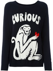 Chinti And Parker Curious Monkey Jumper Black