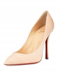 Christian Louboutin Decoltish Suede 100Mm Red Sole Pump Doudou