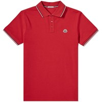 Moncler Maglia Classic Logo Polo Red