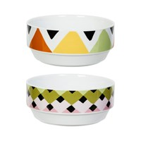 Magpie Viva Bowls Set Of 2 Overlap Stripes