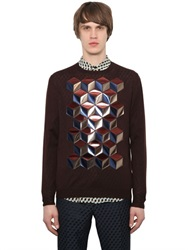 Christopher Kane Laminated Cubes Fine Wool Sweater