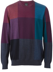Ps Paul Smith Color Block Sweater Red
