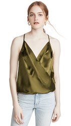 Amanda Uprichard Crossover Cami Army Green