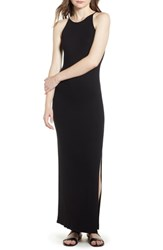 Soprano Ribbed Maxi Dress Black
