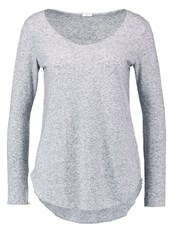 Jdylinette Long Sleeved Top Light Grey Melange Mottled Light Grey