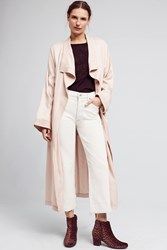 Anthropologie Trapunto Robe Coat Pink