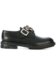 Alexander Mcqueen Buckle Brogues Calf Leather Leather Rubber Black