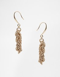 Coast Gold Sparkle Chain Earrings Gold