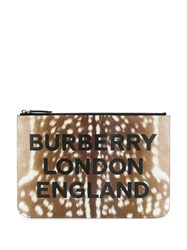Burberry Deer Print Zip Clutch 60