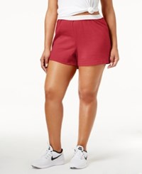 Soffe Curves Plus Size Active Shorts Red
