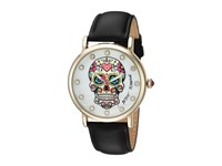 Betsey Johnson Bj00515 07 Colorful Skull Face Gold Pink Watches