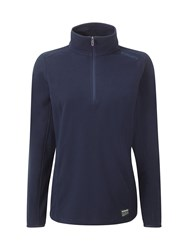 Tog 24 Halo Womens Tcz 100 Fleece Zip Neck Navy