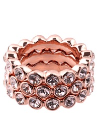 Givenchy Rose Goldtone And Crystal Stackable Ring Set