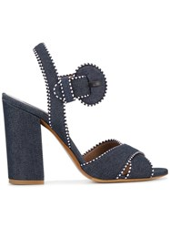 Tabitha Simmons Andres Denim Sandals Blue