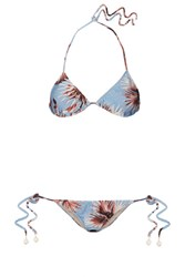 Adriana Degreas Floral Print Triangle Bikini Light Blue