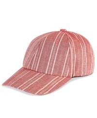 Inc International Concepts Striped Cotton Baseball Cap Only At Macy's Dusty Red