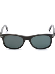 Brioni Square Frame Sunglasses Black