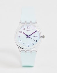 Swatch Ge713 Ultraciel Watch With Irridescent Dial Blue