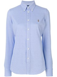 Polo Ralph Lauren Slim Oxford Shirt Cotton Blue