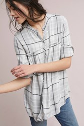 Cloth And Stone Plaid Swing Tunic Grey Motif