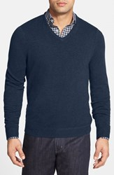 Men's Big And Tall John W. Nordstrom Cashmere V Neck Sweater Blue Estate Heather