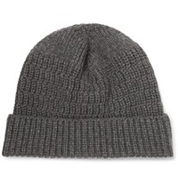 Lanvin Ribbed Cashmere Beanie Gray