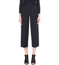 French Connection Riviera Striped Flared Trousers Nocturnal