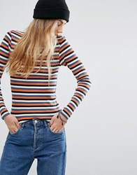 Only Stripe T Shirt Cloud Dancer Stripe Multi