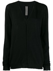 Rick Owens V Neck Jumper Black