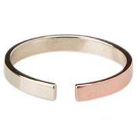 Tara 4779 Percentages 25 75 Ring No. 2 25 14K Rose Gold 75 Silver