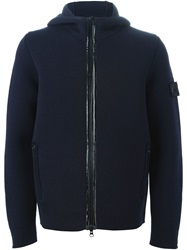 Stone Island Hooded Zip Cardigan Blue