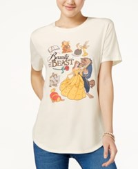 Disney Hybrid Juniors' Beauty And The Beast Graphic T Shirt Marshmallow
